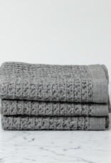 Japanese Lattice Waffle Hand Towel - Grey