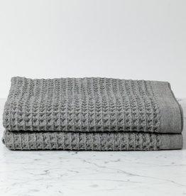 """Morihata Lattice Waffle Bath Towel - Grey - 57 x 33.5"""""""