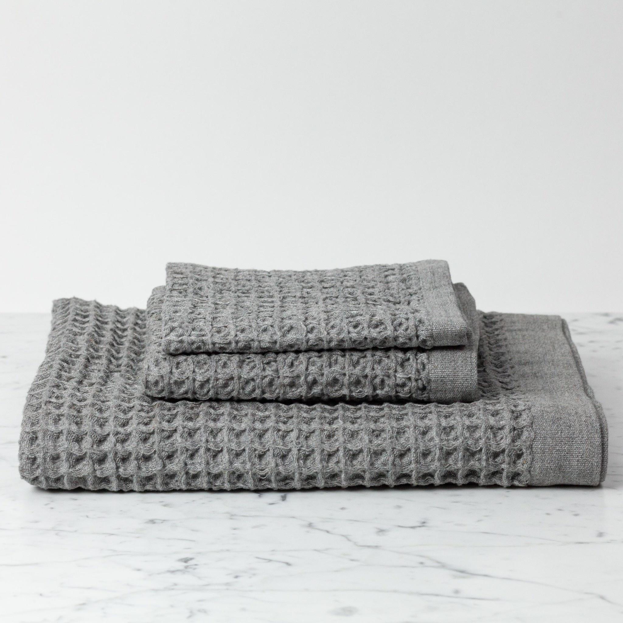 Lattice Waffle Hand Towel - Grey