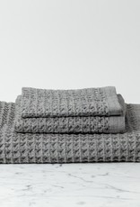Lattice Waffle Washcloth - Grey