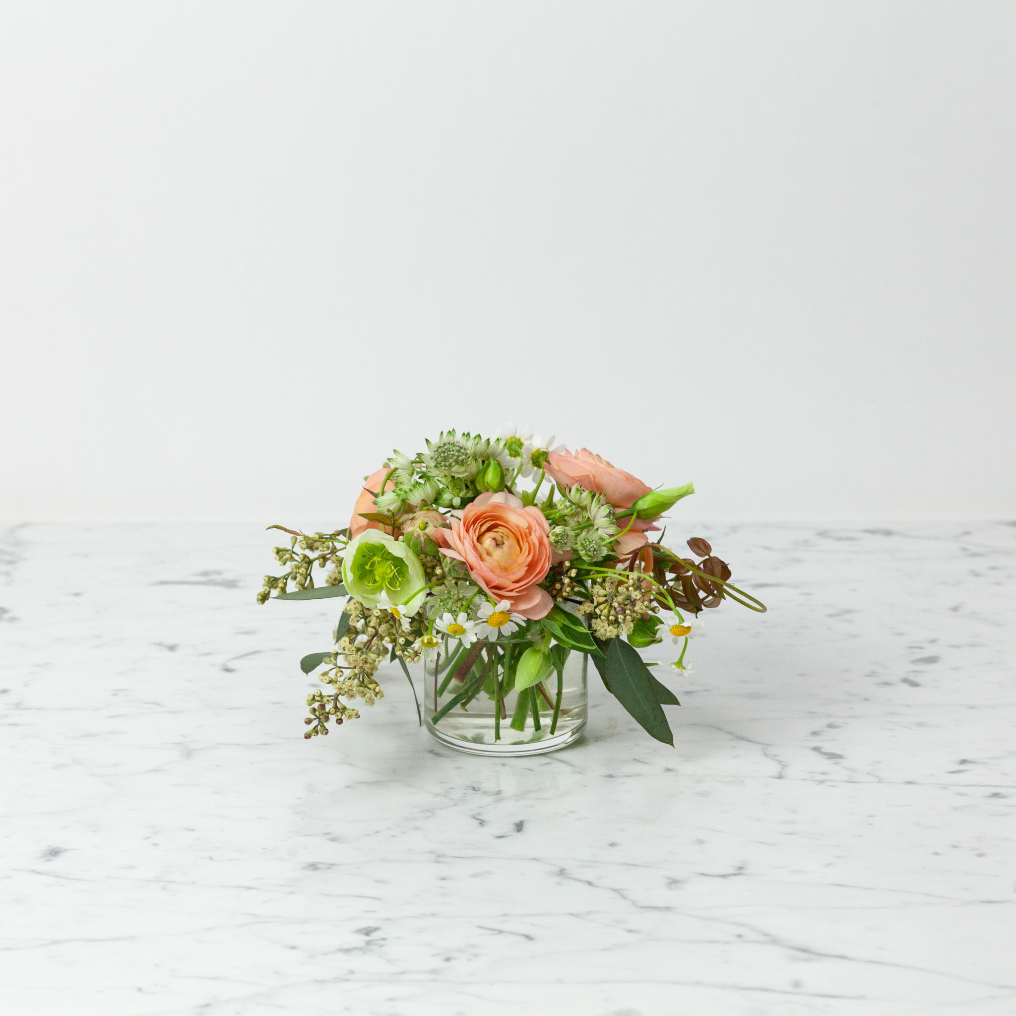 """The Foundry Home Goods Foundry Floral Bouquets - Various Colors and Styles - Small - 2"""" Vase"""
