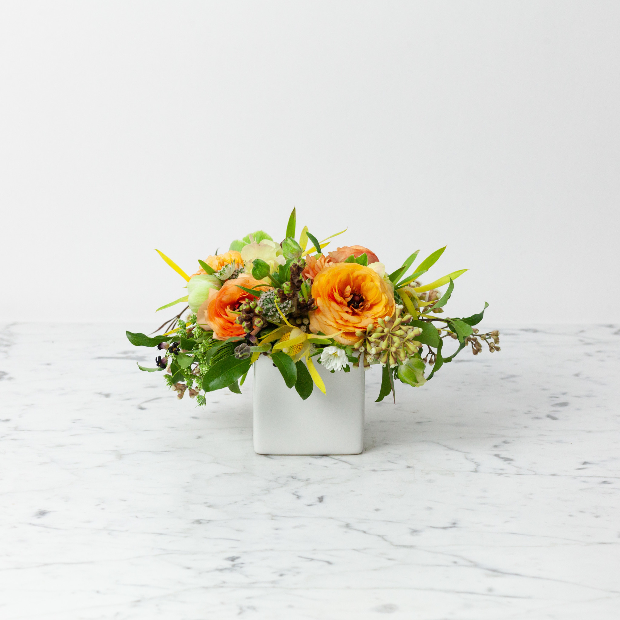 "Foundry Floral Bouquets - Various Colors and Styles - Medium - 3-4"" Vase"