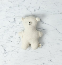 Handmade Wool Soft Gentle Bear - Cream White
