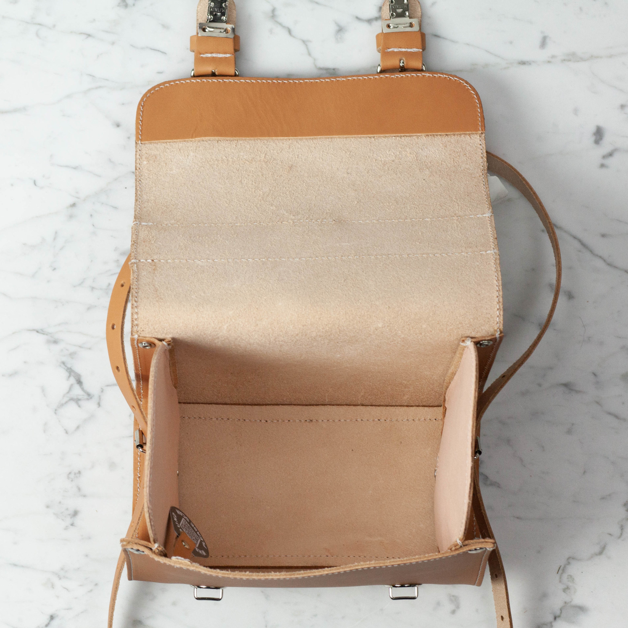 Ruitertassen Natural Leather Children's Lunch or Day Backpack