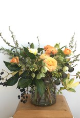 "Foundry Floral Bouquets - Various Colors and Styles - Large - 6"" Vase"