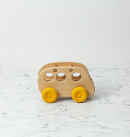 Grimm's Toys Wooden Passenger Bus - Natural