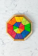 """Grimm's Toys Octagon Building Set Creative Puzzle - 32 piece - 7"""""""