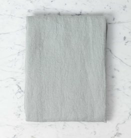 Light Washed French Linen Waffle Bath Towel - Soft Cloud Grey - 40 x 62""