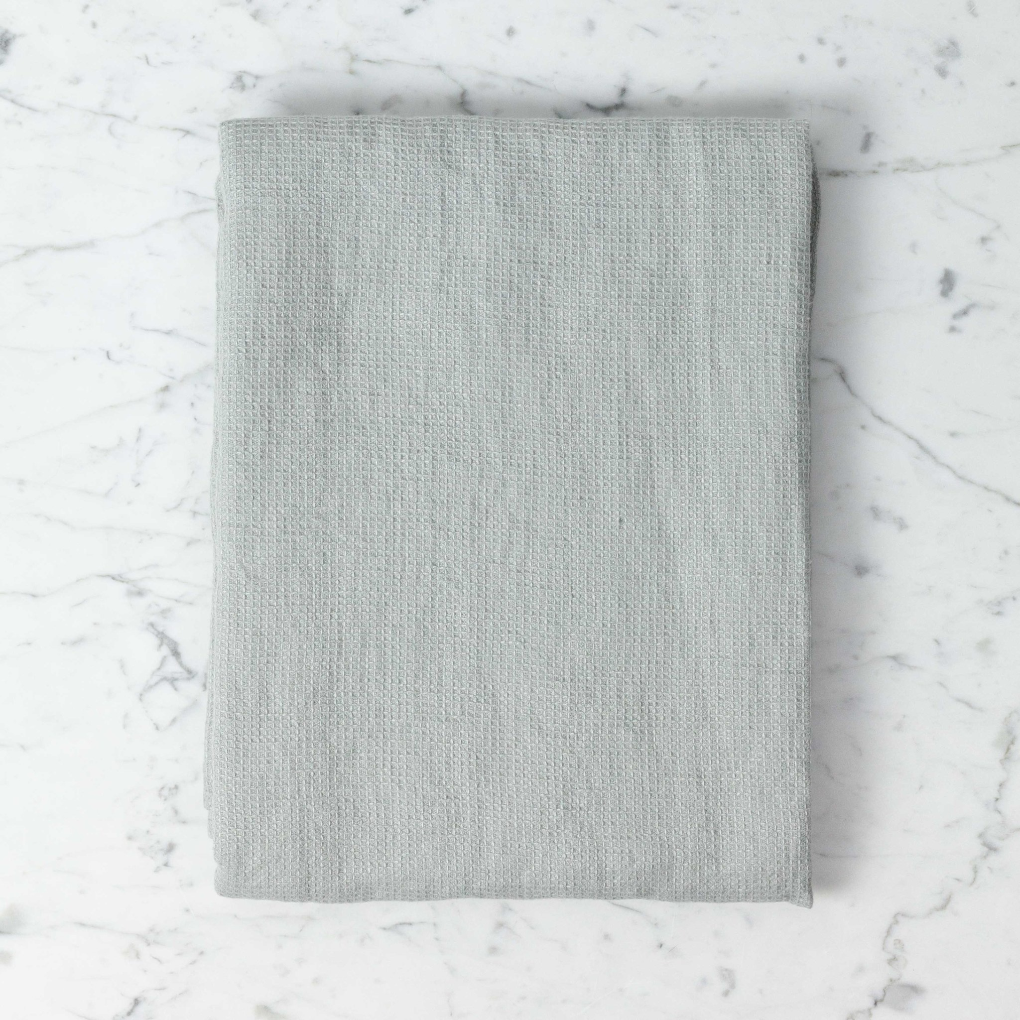 """Linge Particulier Light Washed French Linen Waffle Bath Towel - Soft Cloud Grey - 40 x 62"""""""