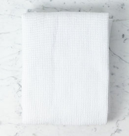 Washed French Linen + Cotton Thermal Waffle Bath Towel - Optic White - 40 x 62""