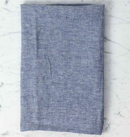 Washed French Linen Pillow Cover - Blue Chambray - 26 x 26""