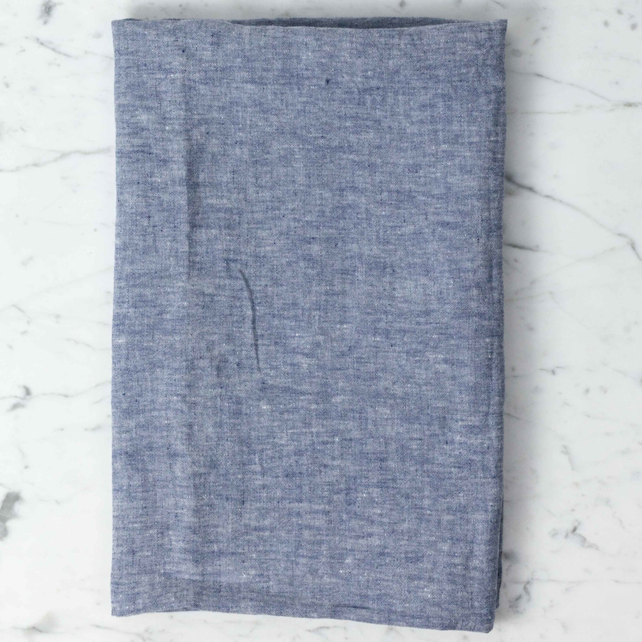 """Washed French Linen Pillow Cover - Blue Chambray - 26 x 26"""""""