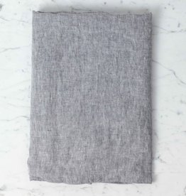 """Linge Particulier Washed French Linen Pillow Cover - Grey Chambray - 26 x 26"""""""