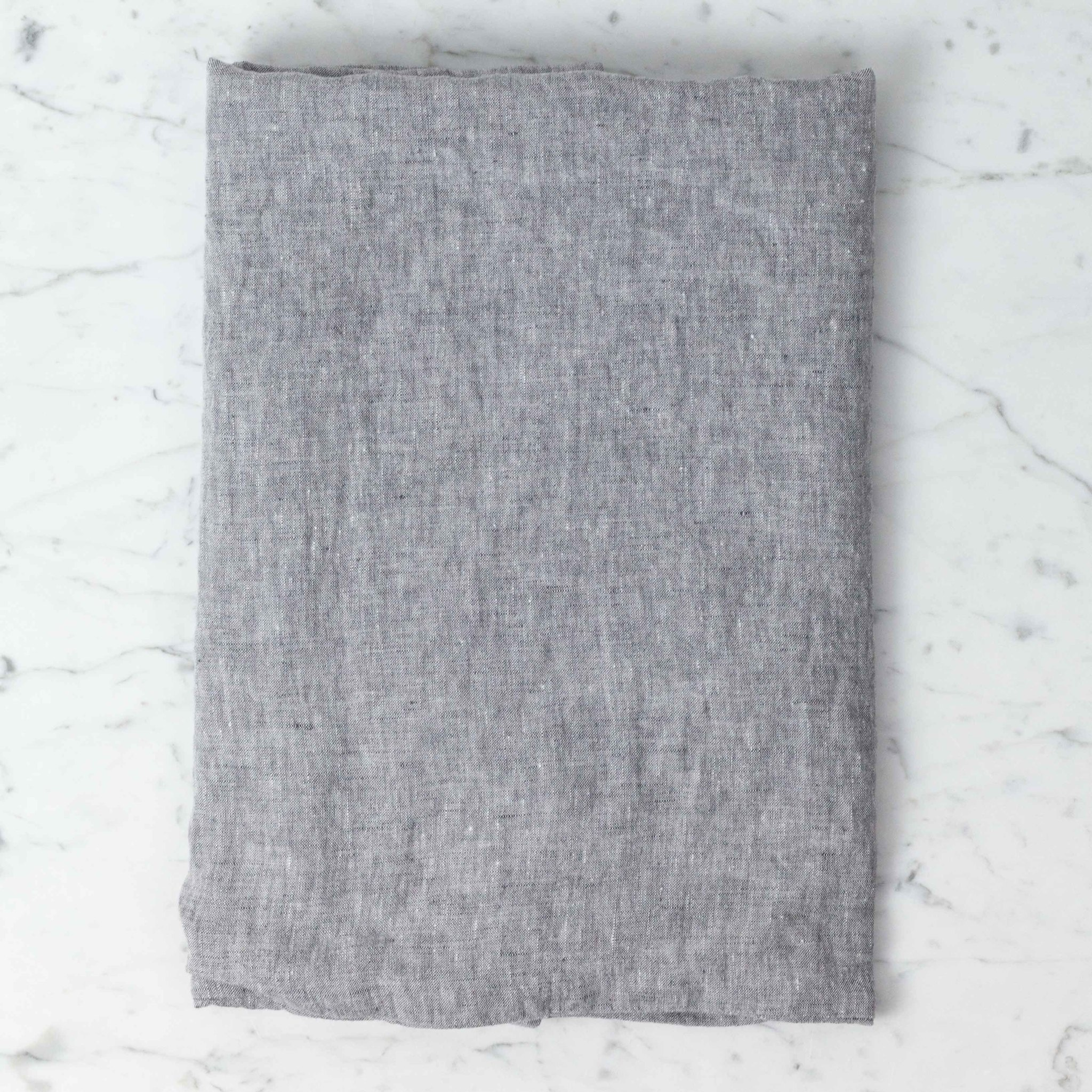 Washed French Linen Pillow Cover - Grey Chambray - 26 x 26""