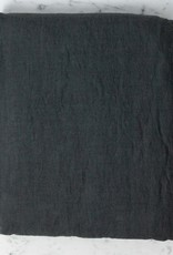 Linge Particulier Washed French Linen Queen Fitted Sheet - Storm Grey