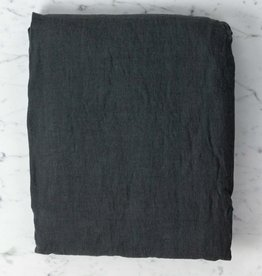 Washed French Linen Queen Fitted Sheet - Storm Grey