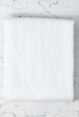 Linge Particulier Washed French Linen Waffle Bath Towel - Optic White