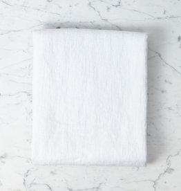 "Light Washed French Linen Waffle Bath Towel - Optic White - 40 x 62"""