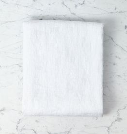 """Linge Particulier Light Washed French Linen Waffle Bath Towel - Optic White - 40 x 62"""""""