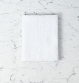 """Linge Particulier Light Washed French Linen Waffle Mini Spa or Hand Towel - Optic White - 24 x 40"""""""