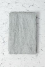 Linge Particulier Washed French Linen Waffle Mini Spa or Hand Towel - Soft Cloud Grey