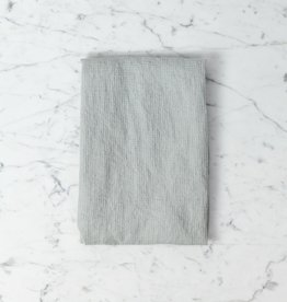 """Linge Particulier Light Washed French Linen Waffle Mini Spa or Hand Towel - Soft Cloud Grey - 24 x 40"""""""