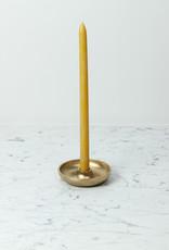 Saikai Toki Japanese Brass Candle Stand with Bowl Base