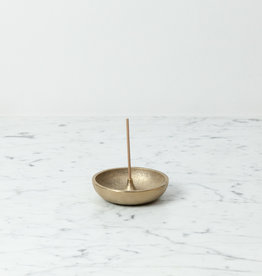 Japanese Brass Incense Holder with Bowl Base