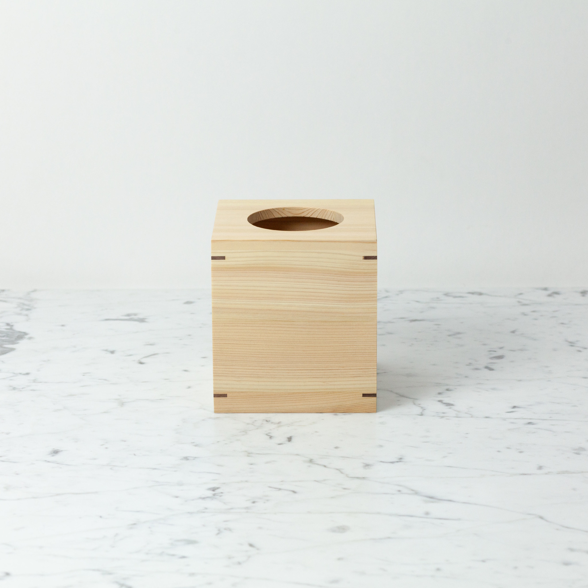 Japanese Hinoki Tissue Box - Square