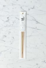 Tetoca Chopsticks - Chataigne Wood with Beeswax Finish