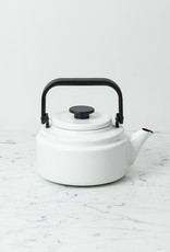 Noda Horo Enamel Kettle - White with Black Handle - 2 Liter