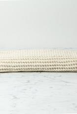 """Hand Knit Cotton Bath Mat - White - 18 x 24"""""""