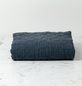 "Ida Vintage Linen Baby Comforter - Night - 36"" x 50"""