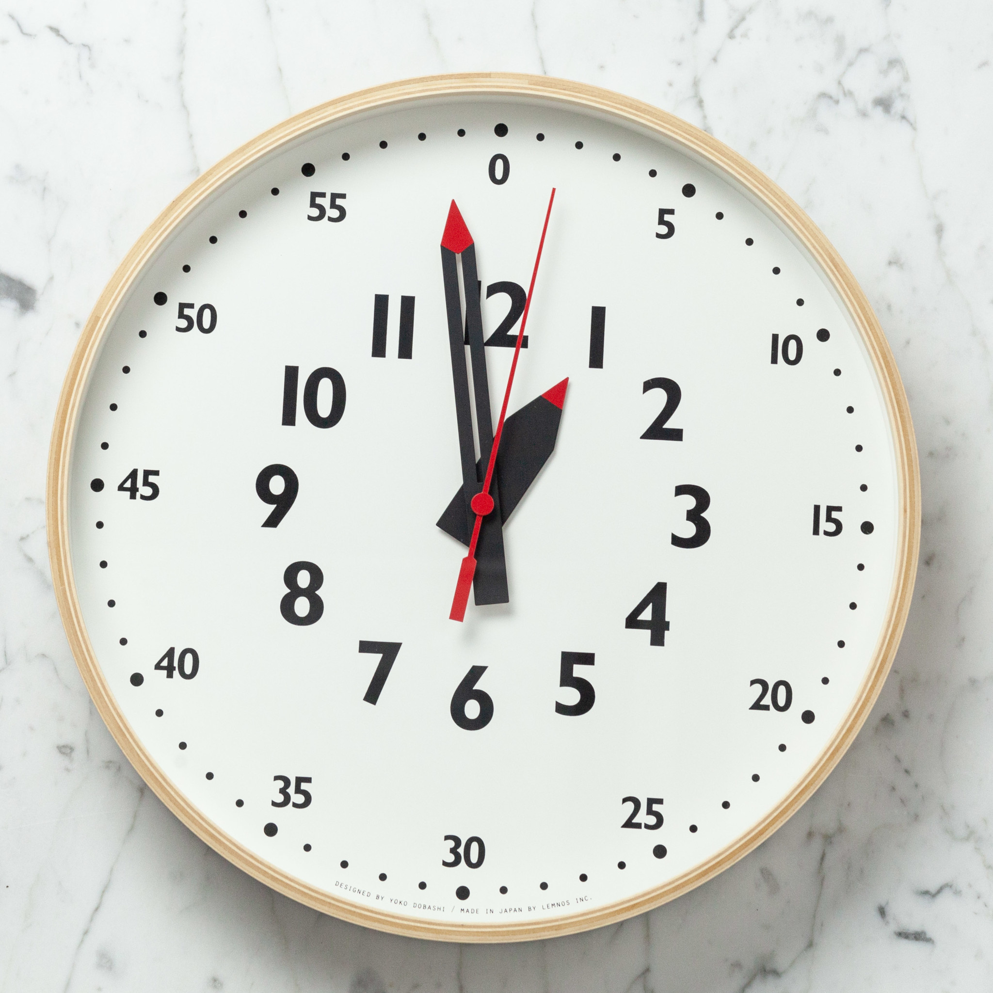 Fun Pun Wall Clock with Second Hand - White