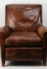 Foundry Vintage + Antique Pieces - French Leather Club Chairs - Set of 2
