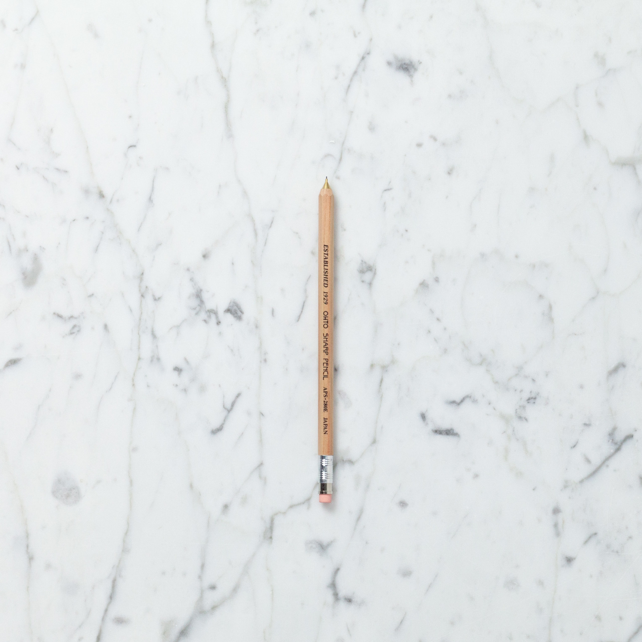 Ohto Wooden Mechanical Pencil - Slim - Natural