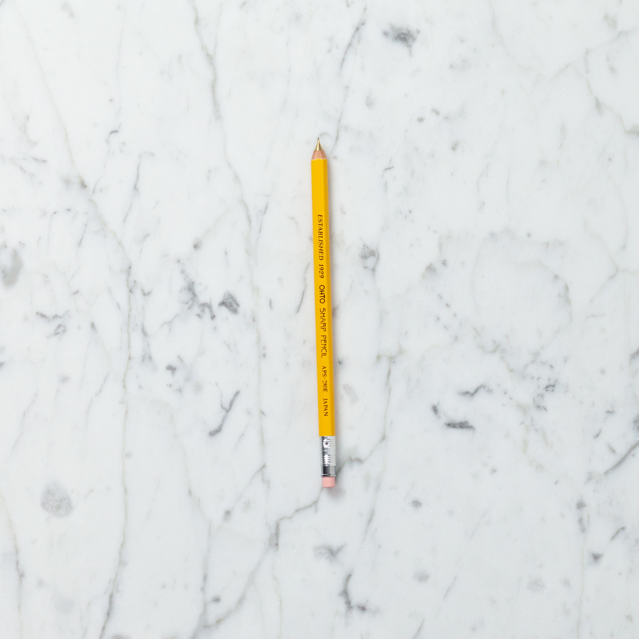 Ohto Wooden Mechanical Pencil - Slim - Yellow