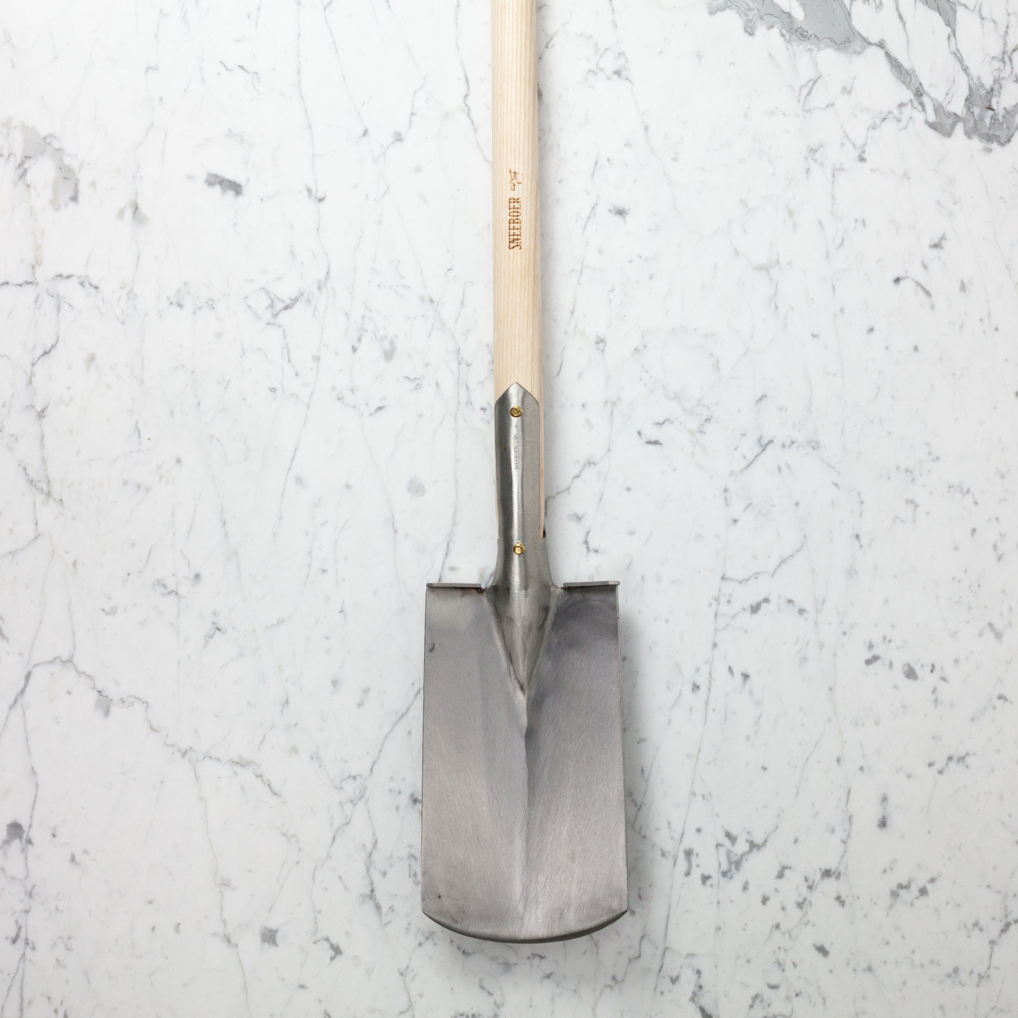 """Sneeboer Hand Forged Spade with Steps - 40"""""""