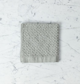 Lattice Waffle Washcloth - Cotton + Linen - Ice Grey