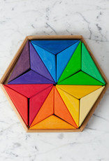 """Grimm's Toys Complementary Color Star - 18 Pieces - 10"""""""