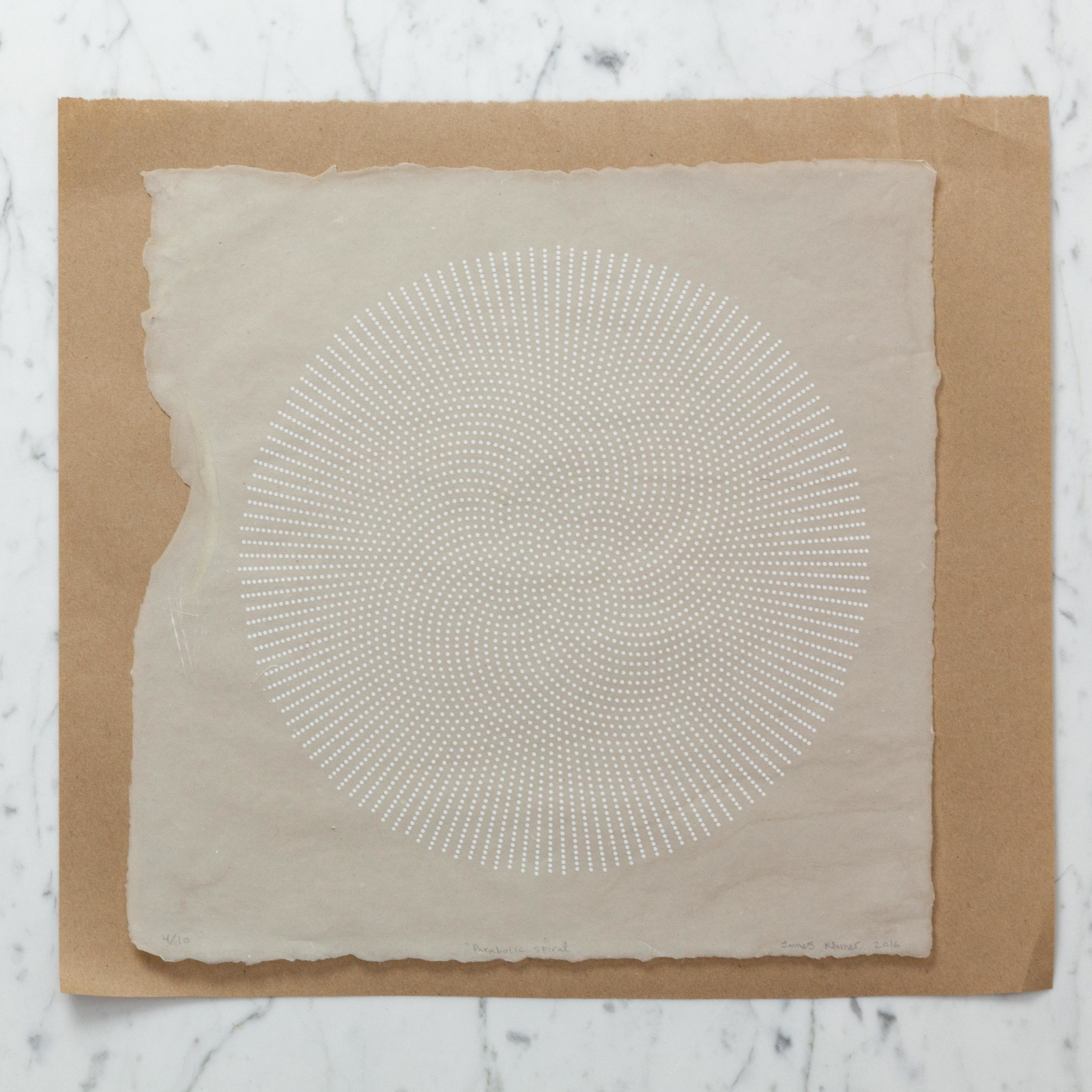 James Kleiner James Kleiner Spiral Print on Handmade Paper - Unframed - Edition of 10