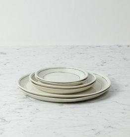 "Nicole Aquillano Nicole Aquillano Porcelain Simple Line Dessert Plate - 7.25"""