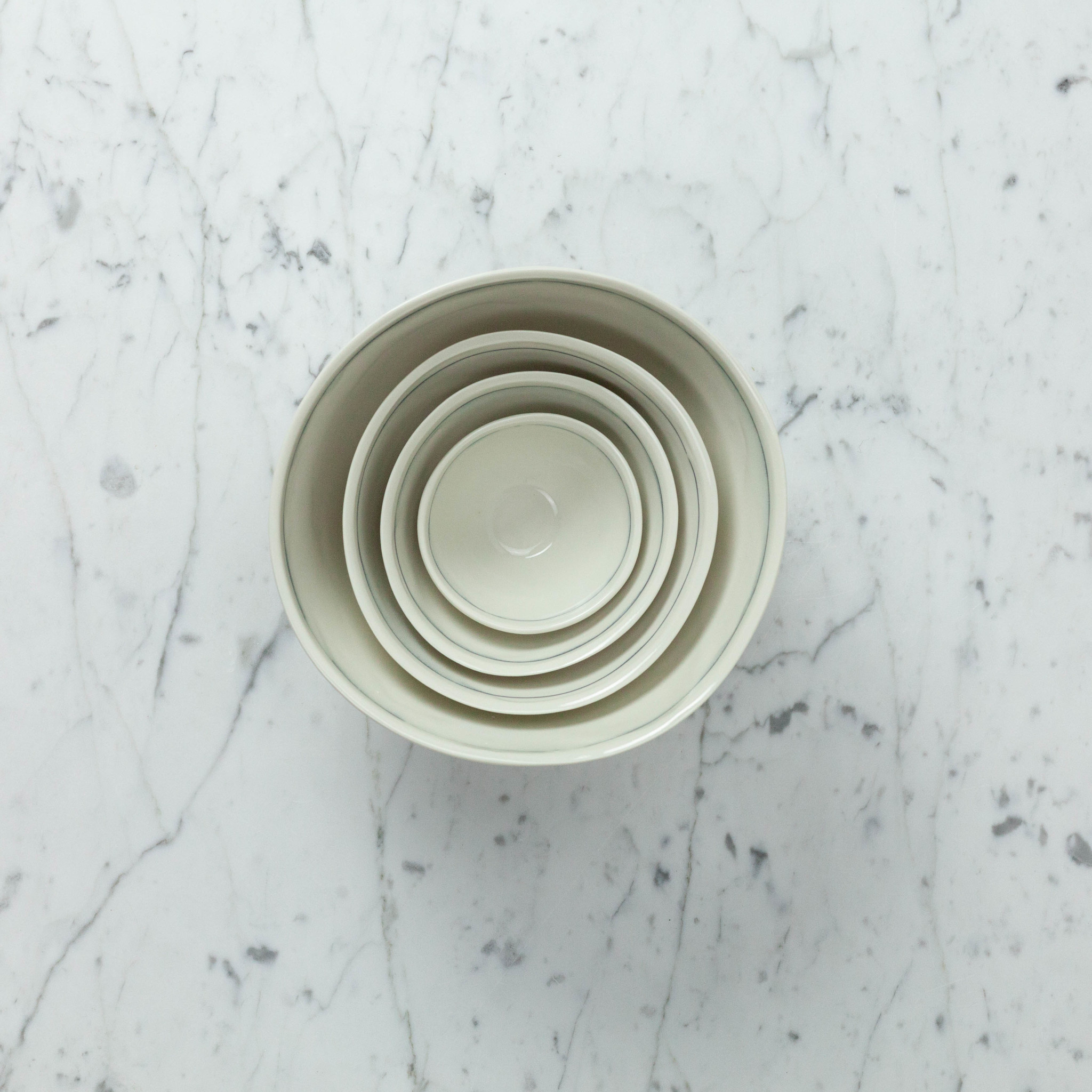 """Nicole Aquillano Nicole Aquillano Porcelain Simple Line Nesting Bowl - Medium - 5.75"""""""