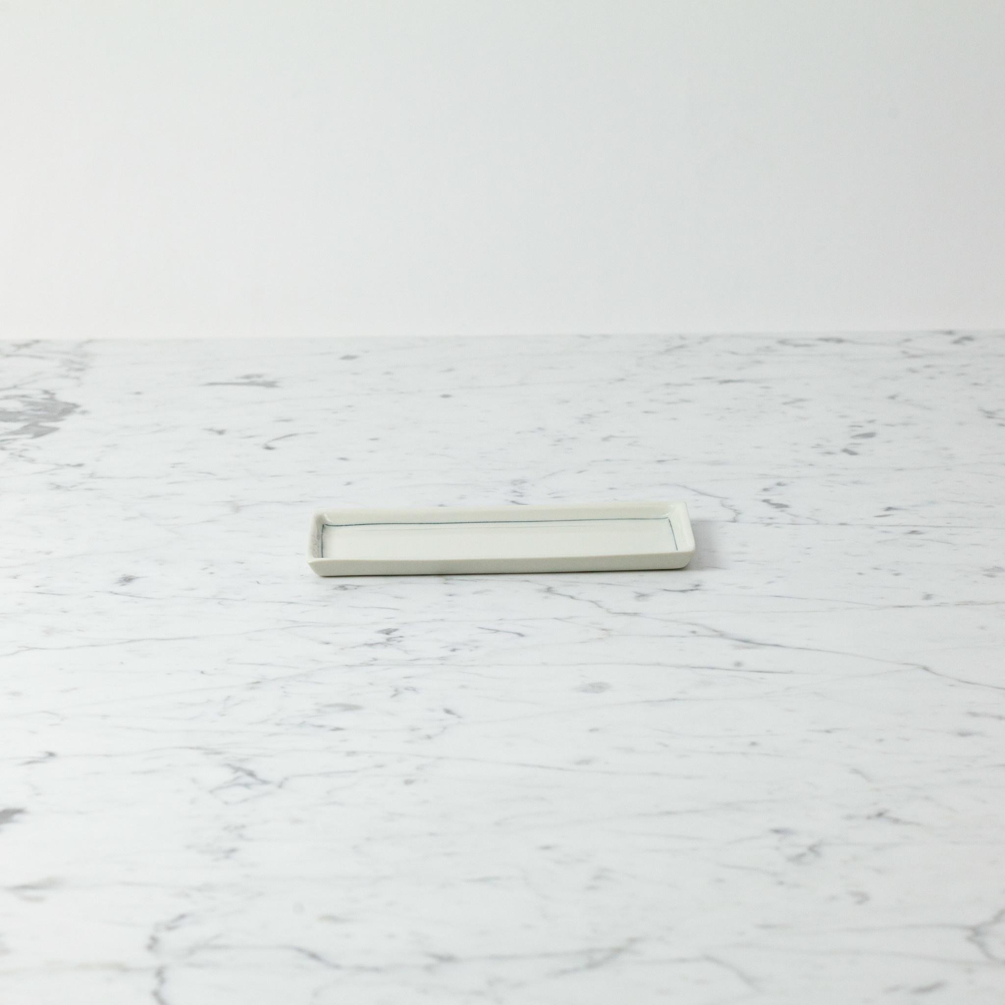Nicole Aquillano Nicole Aquillano Porcelain Simple Line Rectangular Trinket Dish - Large