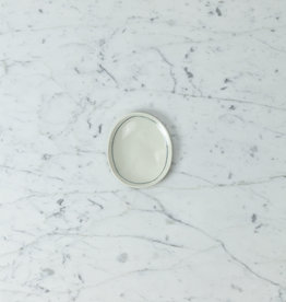 "Nicole Aquillano Nicole Aquillano Porcelain Simple Line Tiny Oval Dish - 4"""