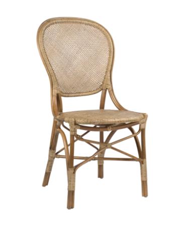 Rossini Rattan Bistro Side Chair Natural