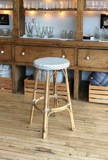Sika-Design Simone Rattan Bar Stool - White - 30.5 in H