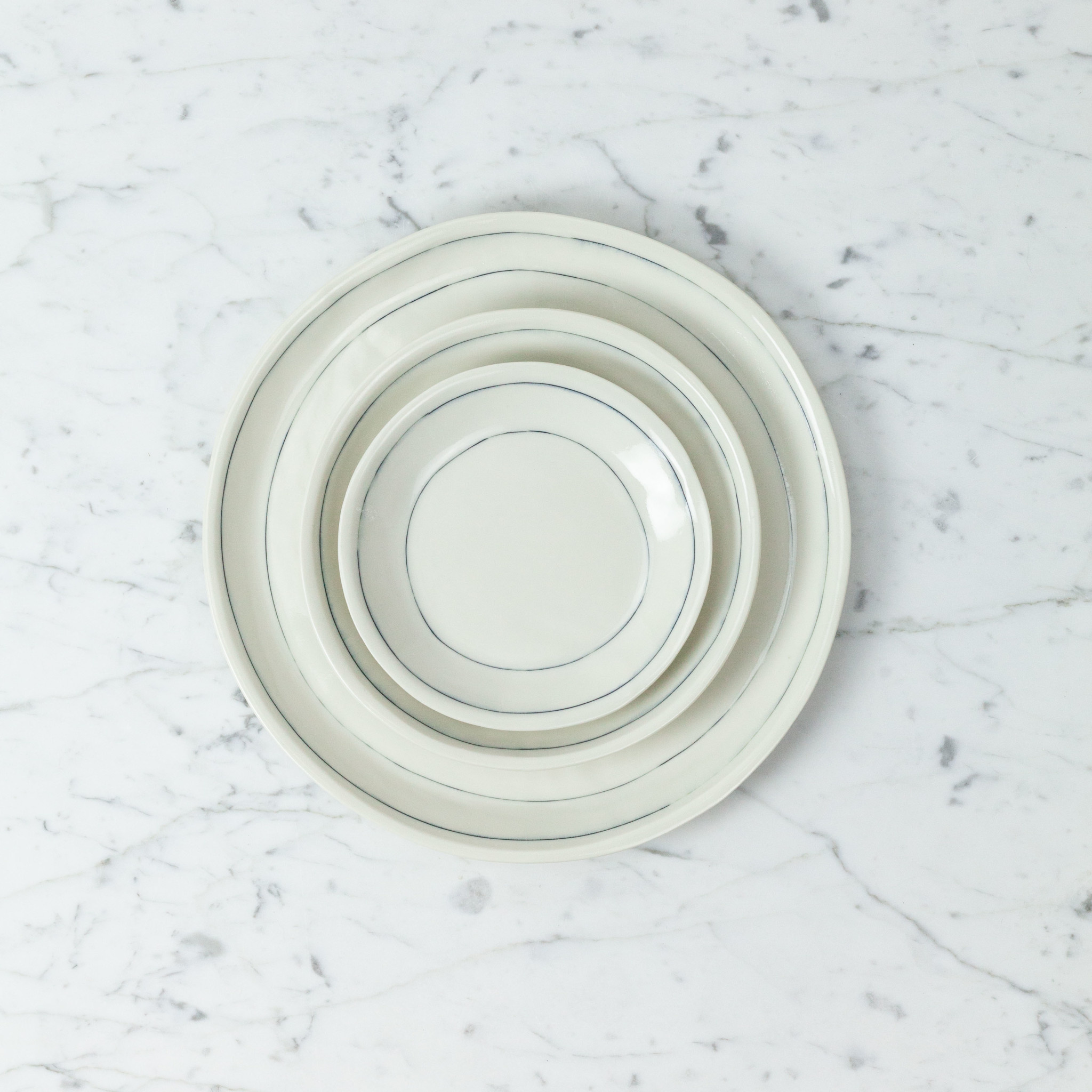 "Nicole Aquillano Nicole Aquillano Porcelain Simple Line Saucer - 5.75"""