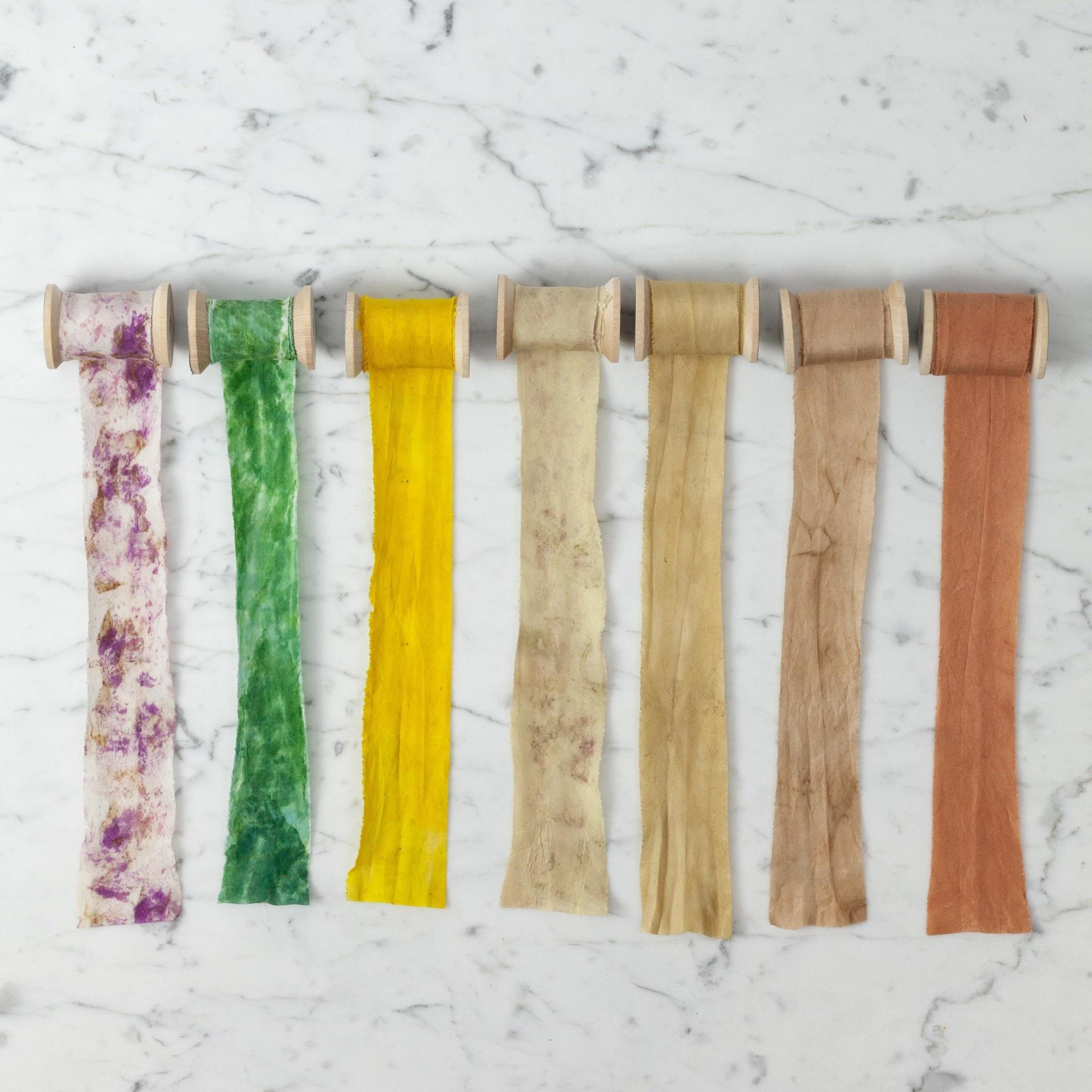 Northern Dyer Northern Dyer Natural Dye Silk Ribbon - Black Walnut - 6'