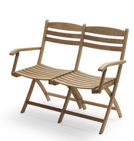 Skagerak Selandia Outdoor Two Seater Bench - Teak